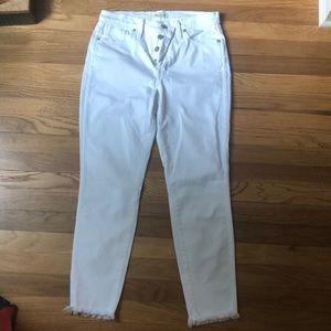 Madewell button front jeans